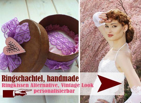 handgefertigte Ringschachtel im Retro Look - LoveLi Hochzeitsplanung Onlineshop