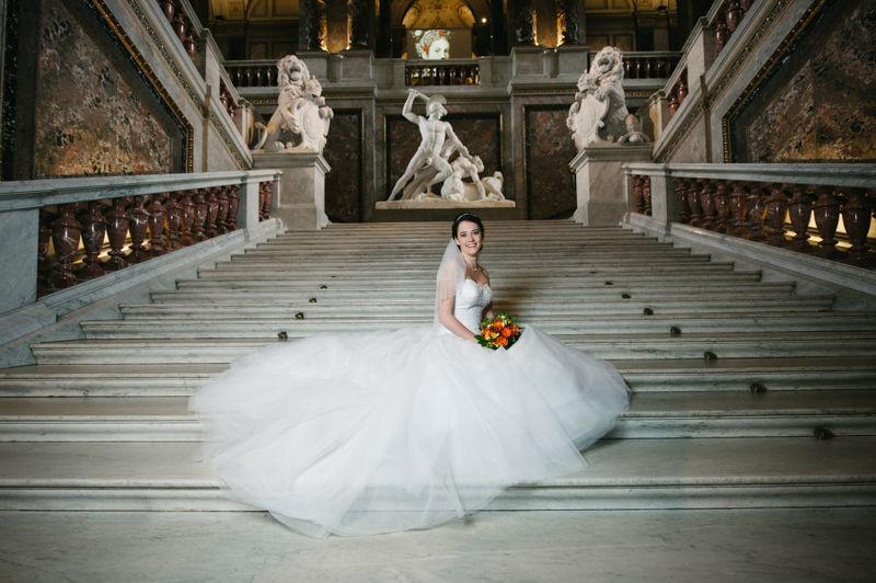 Beispiel: Portrait der Braut, Foto: Hochzeitsfotograf Dieter Hawlan.