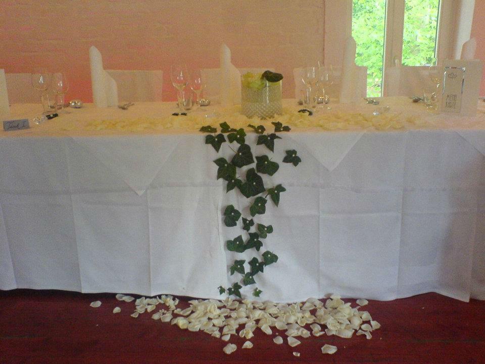 Beispiel: Hochzeitstisch, Foto: Cantina Majolika.
