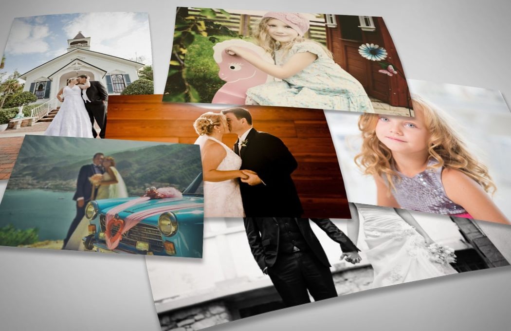 Diferentes tamaños en fotos impresas en papel fotográfico.