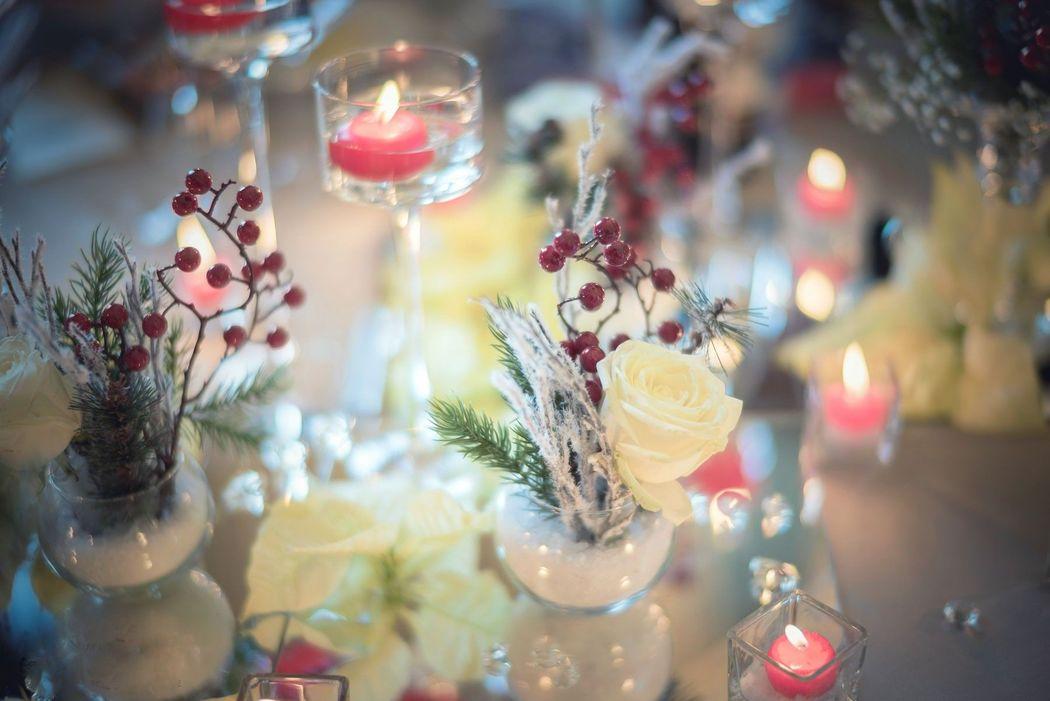 Evento Ideale: particolare tavolo sposi