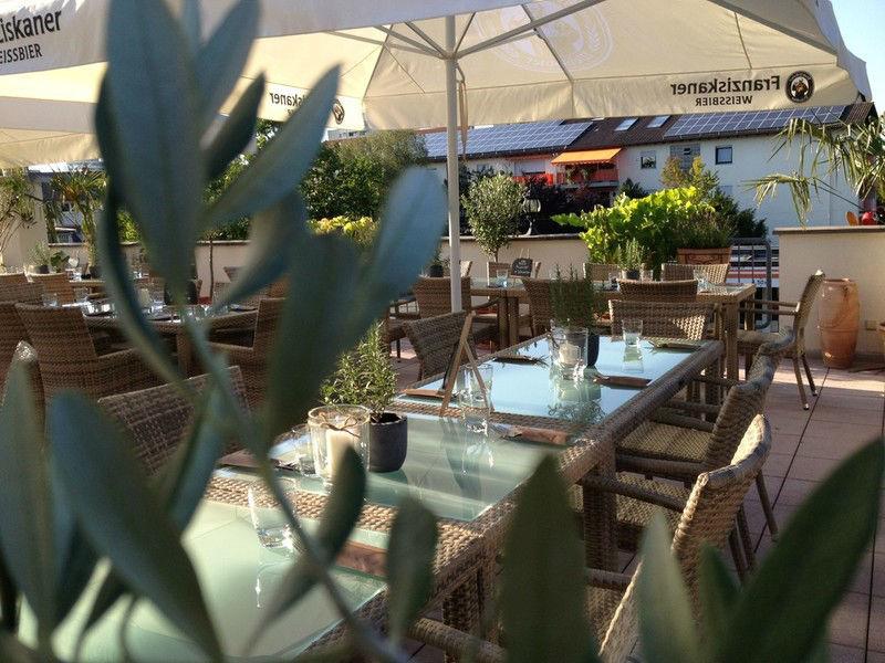 Beispiel: Dachterrasse, Foto: Rimelin Restaurant.