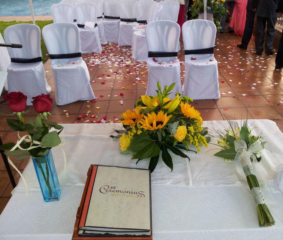 Guión, rito de la Rosa, Bouquet...