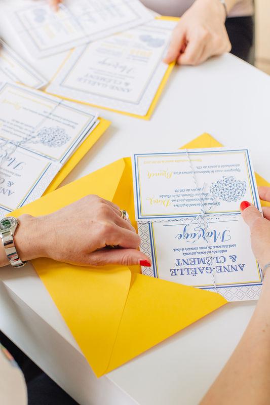 Faire-part Letterpress L'Atelier d'Elsa Le Véritable Faire-part Sur Mesure