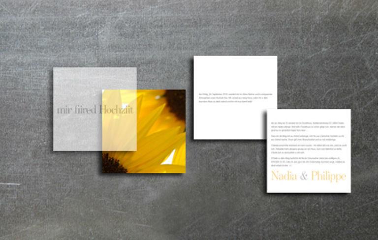 Beispiel: Einladungskarten mit Transparenten Blättern, Foto: tellme.