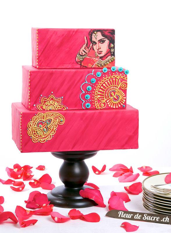 Bollywood inspirierte Hochzeitstorte