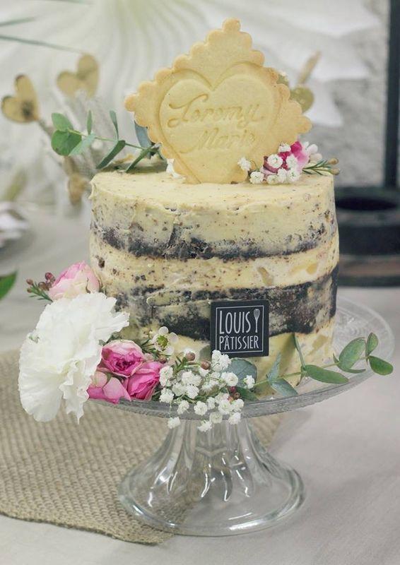 Naked cake poire chocolat