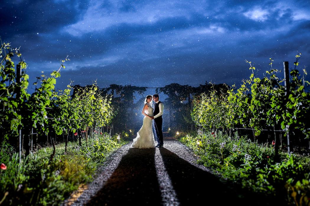 Hochzeitsfotos bei Regen (Weingut -Fitz Ritter-)