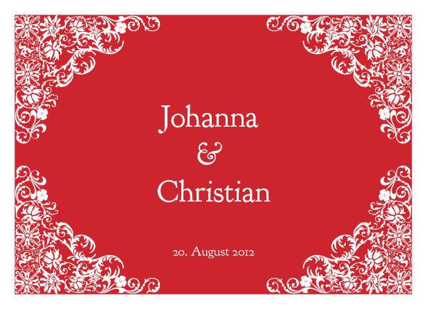 Beispiel: Hochzeitseinladungskarte, Beispiel: Thomas Cards.