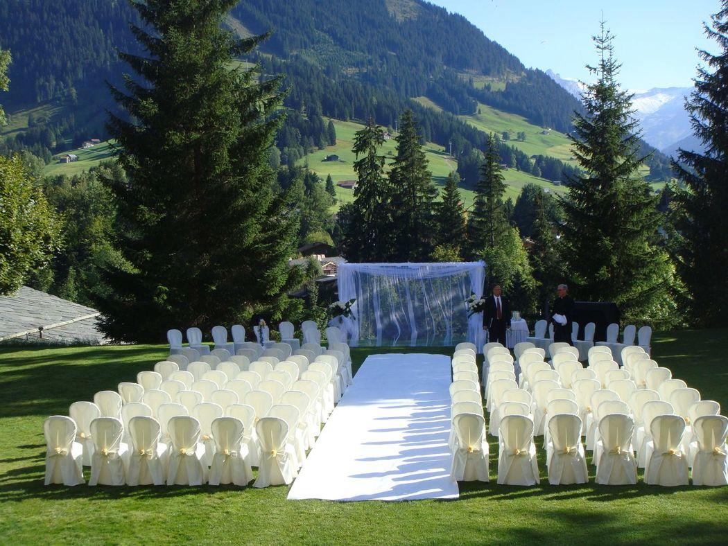 Beispiel: Hochzeit, Foto: Gstaad Palace