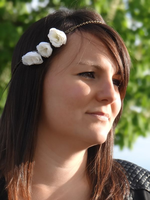 Bijou de tête 3 fleurs