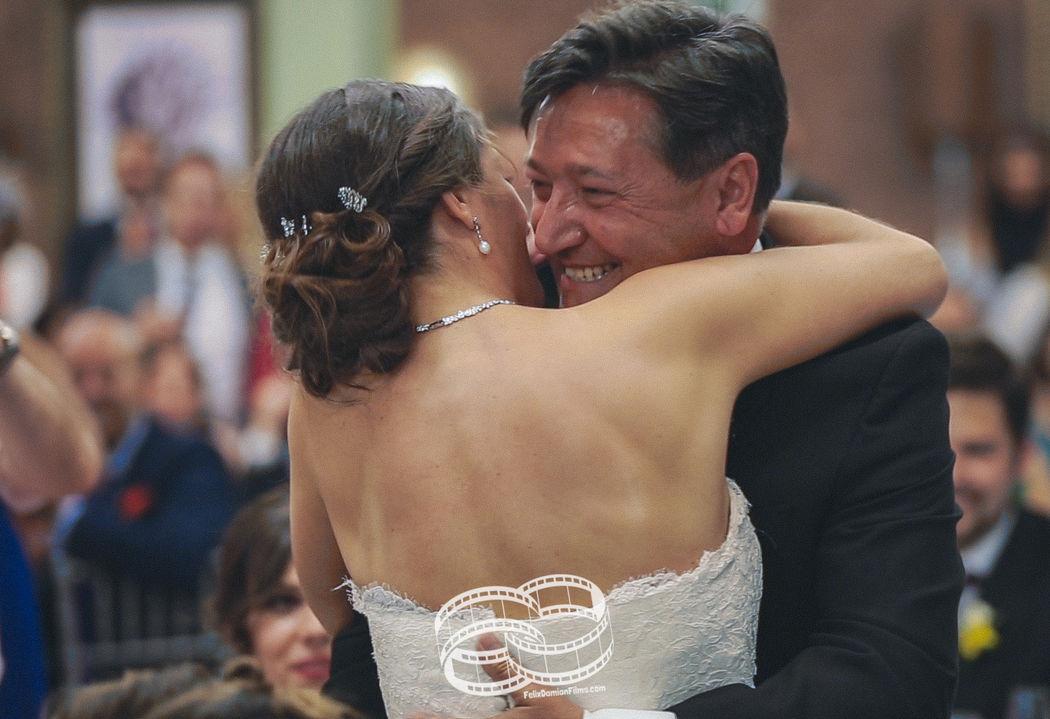 Novia con su padre
