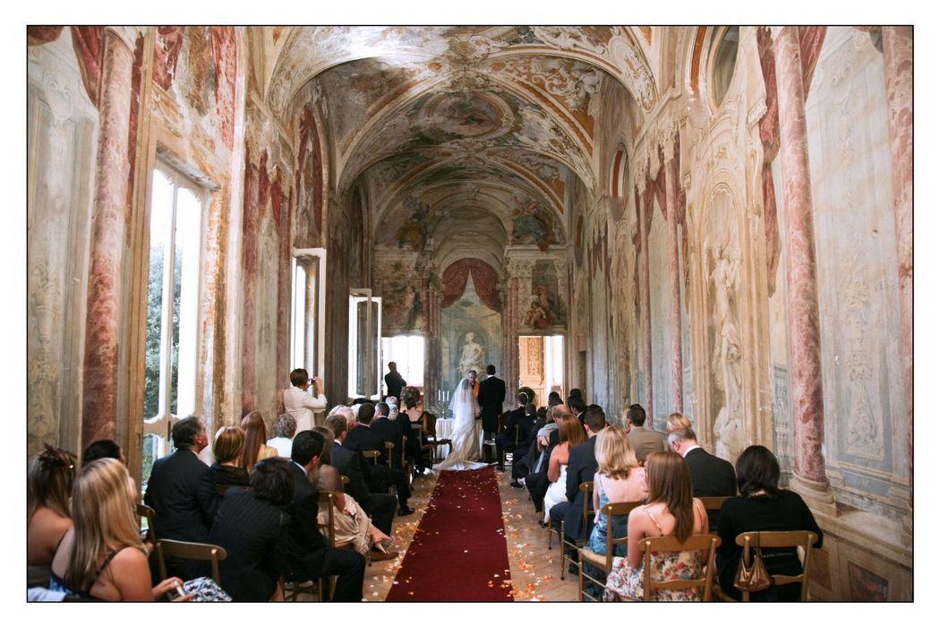 Park Hotel Villa Grazioli: Cerimonia simbolica nella galleria del Pannini