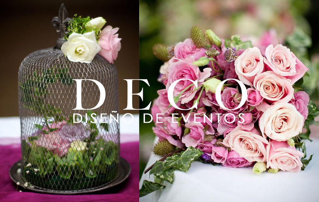 Accesorios decorativos, diseño floral, bouquet de rosas por DECO diseño de eventos
