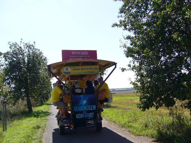 Beispiel: Radtour durch die Natur, Foto: BierBike Erfurt.