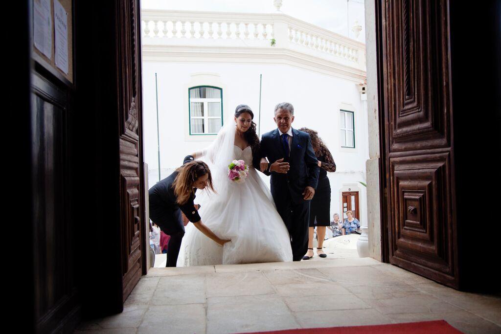 Coordenação e assessoria aos noivos cerimónia, igreja matriz de Paderne.