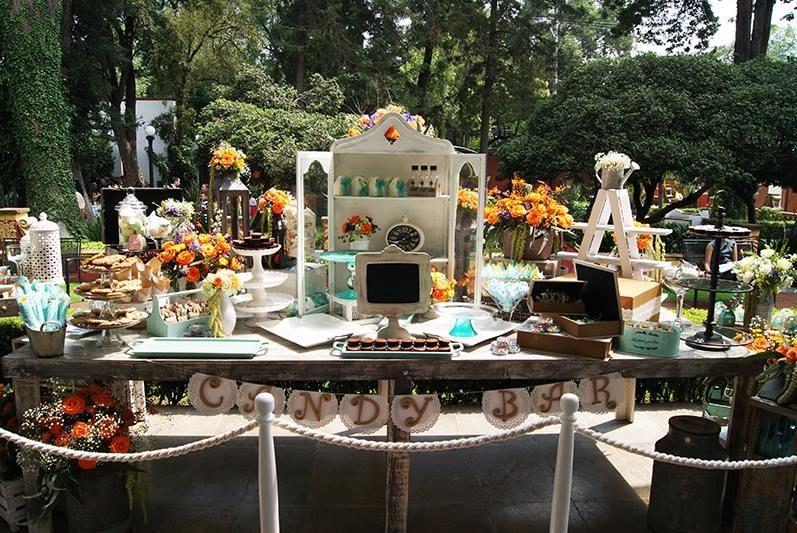 Mesa de Dulces  Vintage Banchetti Eventos