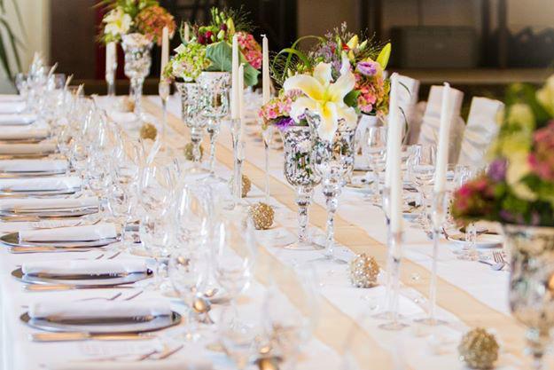 Beispiel: Tischdekoration, Foto: Weyprechthof.