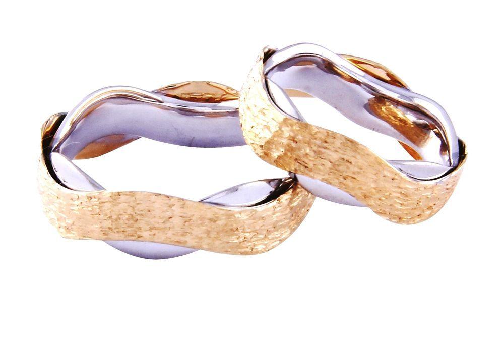 Alianças Casamento Bicolores  ALBIC132T
