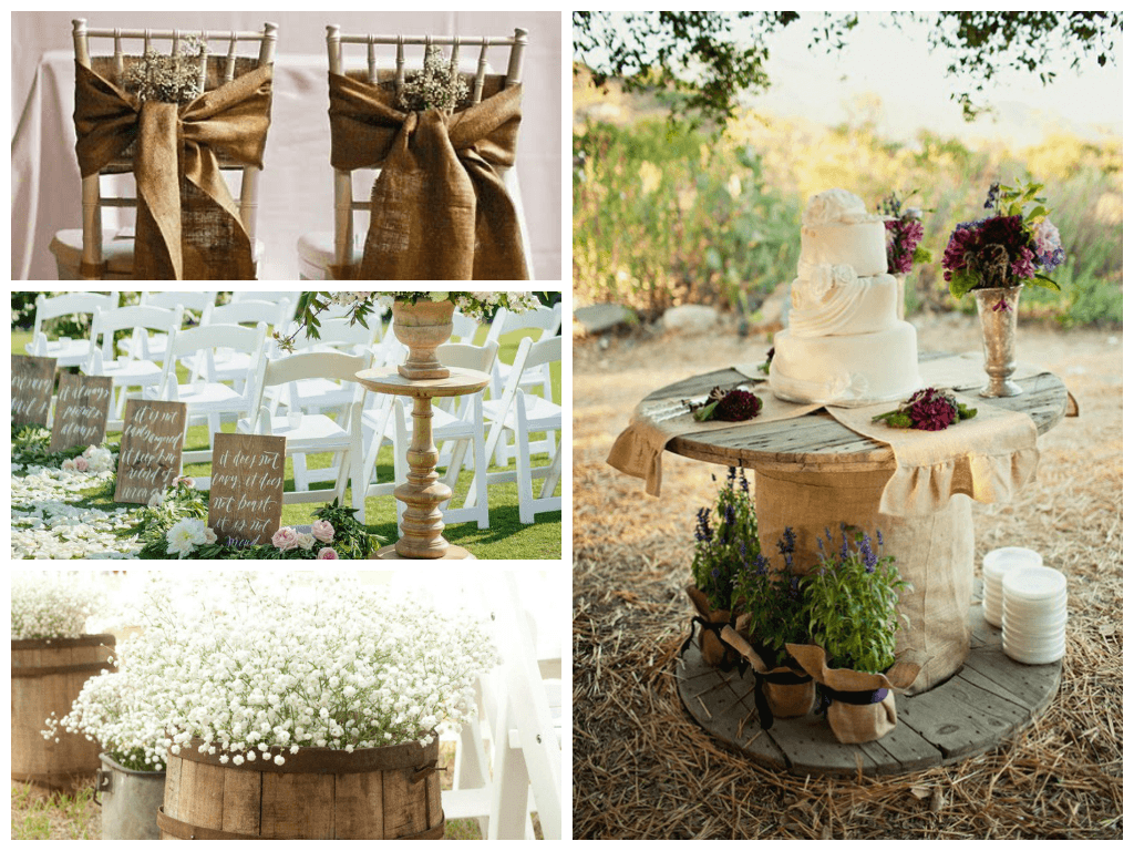 Trend: Burlap Design!!! Not just for the Farm, even the Burlap at the Rivera Maya, looks Amazing! If you Love the farm feeling, let us create a beautiful desing exclusive just for you!...