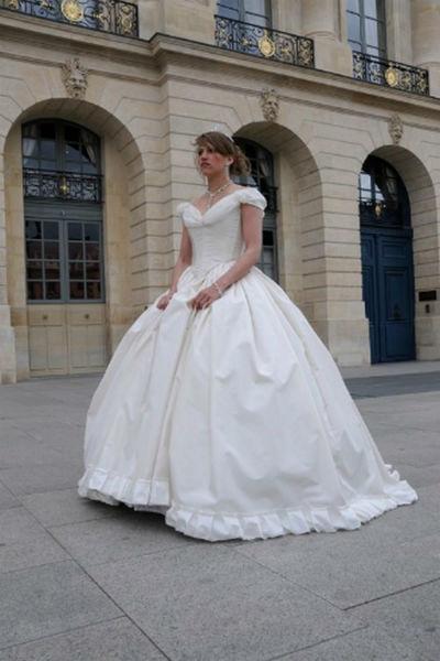 Robe de mariée Sissi en taffetas et organza de soie Agnès Szabelewski