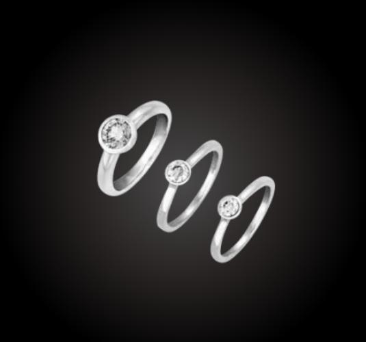 Beispiel: Verlobungsringe in verschiedenen Varianten, Foto: Juweliere Ellert.