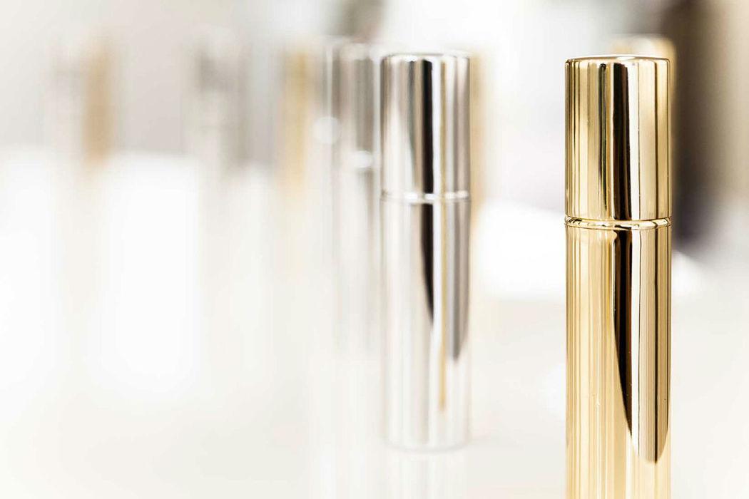 Frascos de perfume de lembrança: fragrância de pele ou ambiente exclusiva  Cor Prata, Dourado, Preto ou Vermelho Pedido minimo: 10 unidades