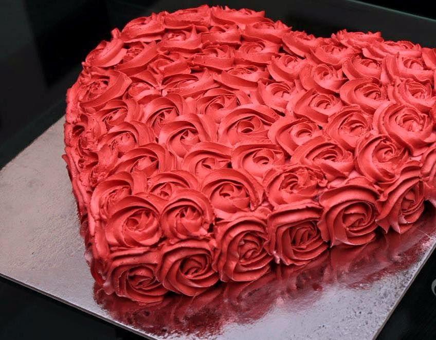 Торт виде сердца фото