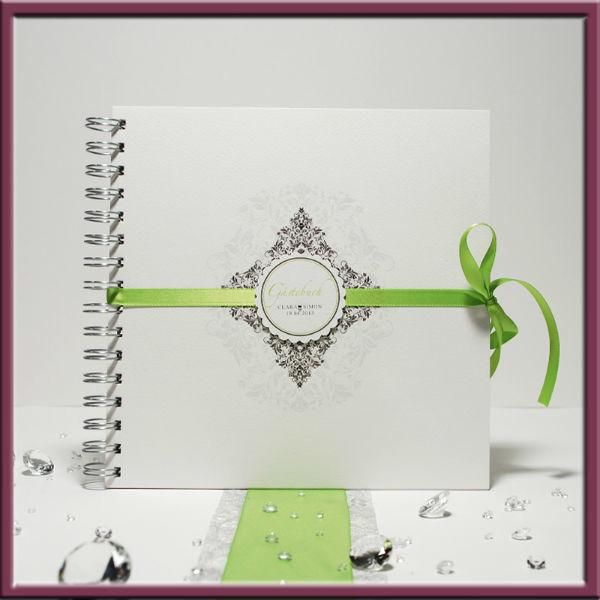Beispiel: Gästebuch, Foto: Adam & Eva Hochzeitskarten.