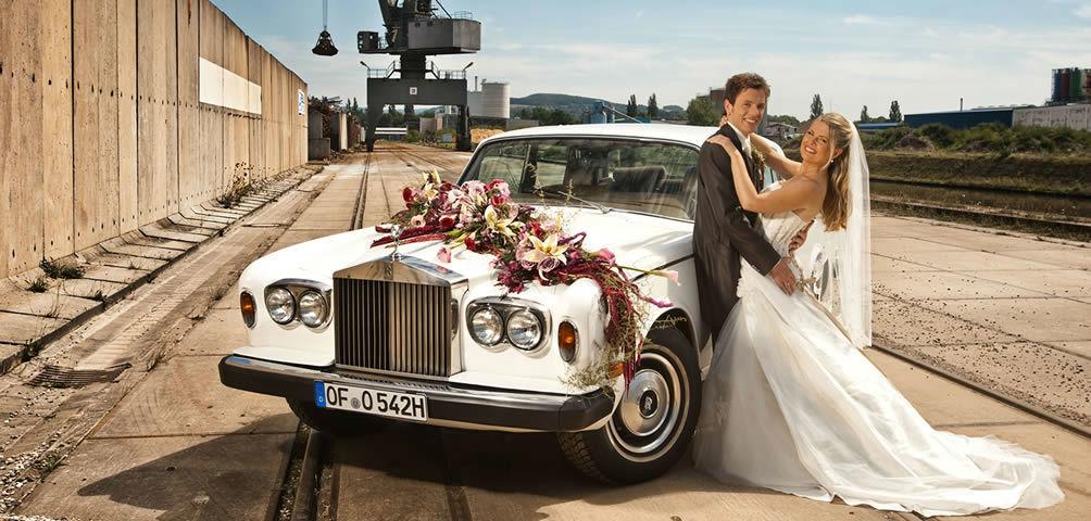 Beispiel: Hochzeit mit Ihrem Traumauto, Foto: Herbig Wedding.