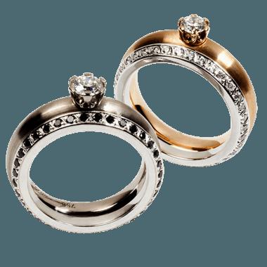 Beispiel: Verlobungsring mit Brillant, Foto: Goldschmiede Glaser & Sohn.