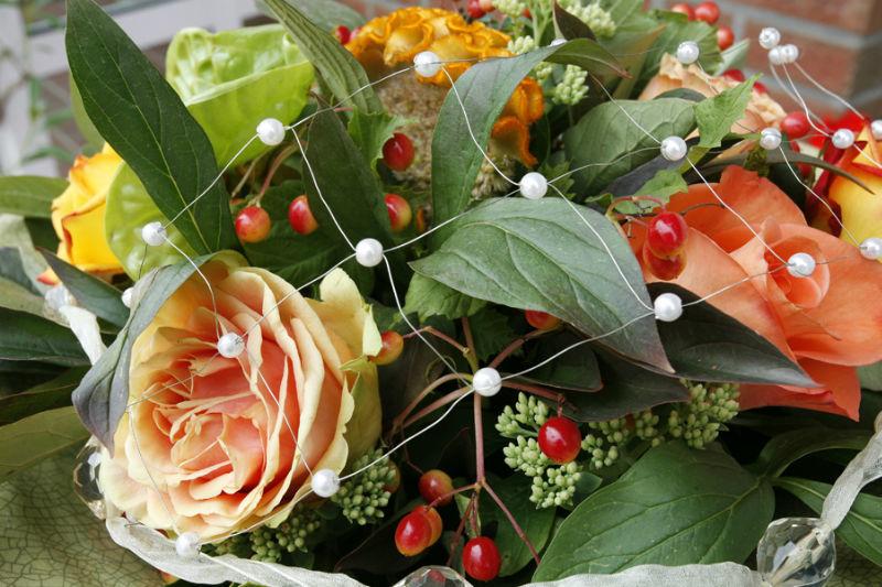 Beispiel: Florale Dekoration, Foto: Landhaus Wieler.