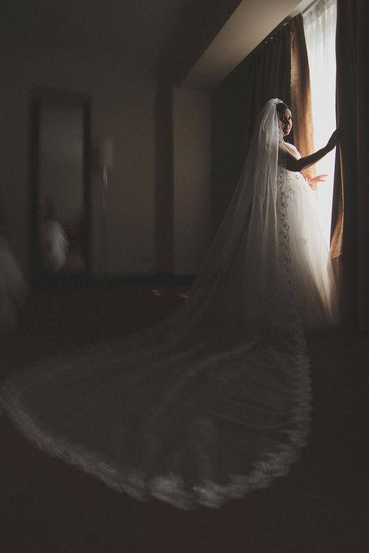 Una mini-sesión con el vestido recién estrenado.