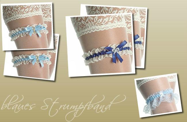 Beispiel: Blaues Strumpfband, Foto: Traumbraut.