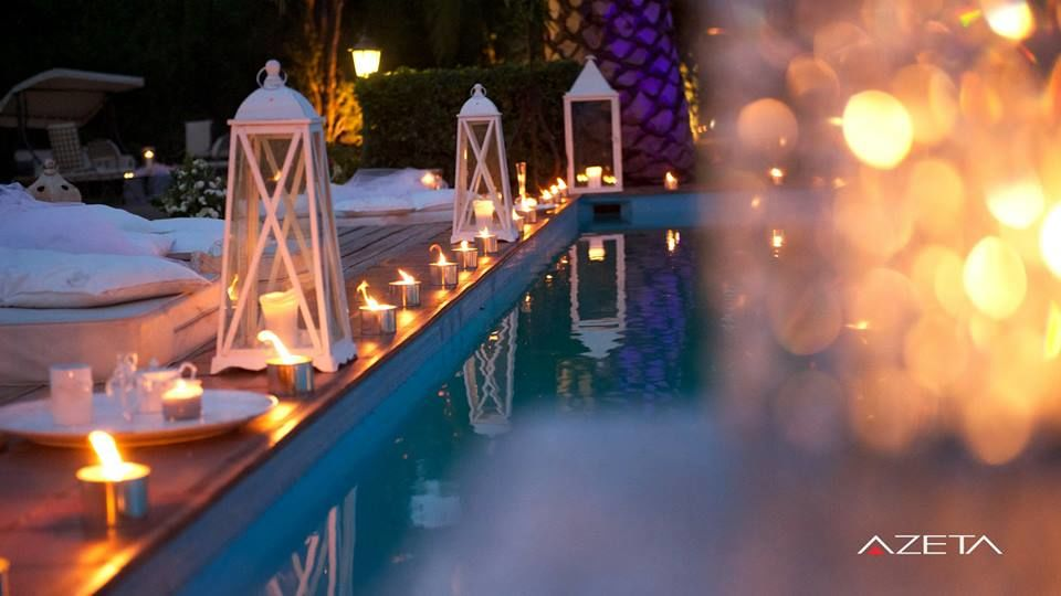 swimming pool decor