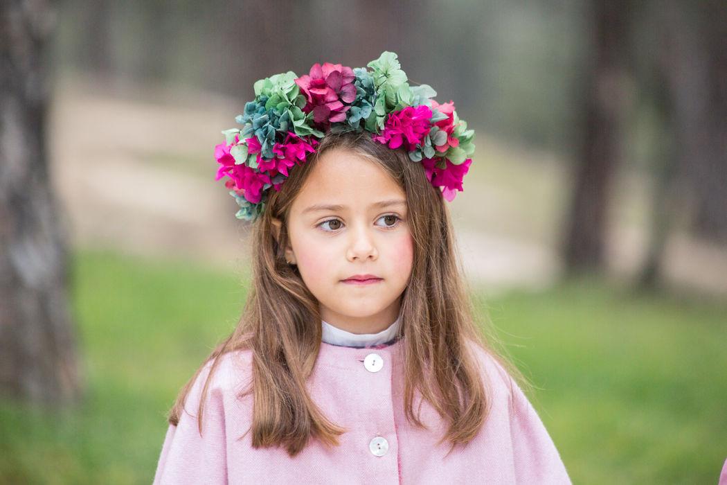 Maxi corona de flores naturales