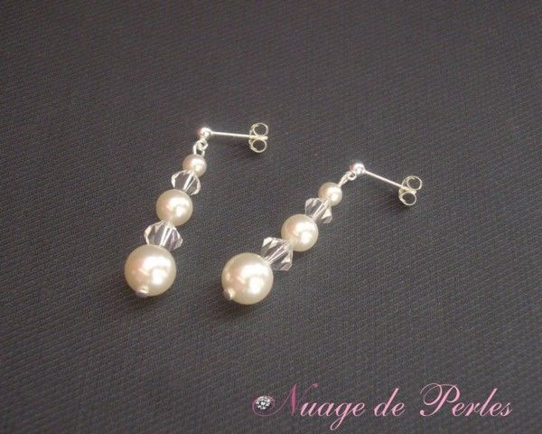 Boucles d'oreilles - Nuage de Perles