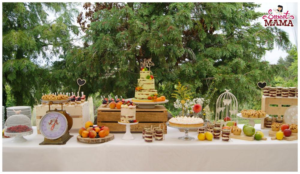 Mesa dulce para boda en Can Gabarró.