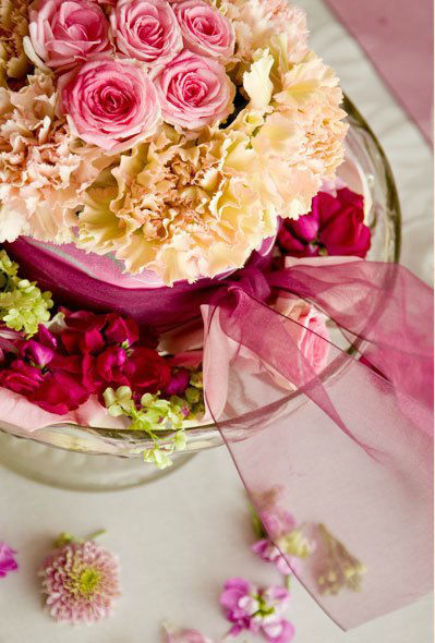Beispiel: Blumenkunst, Foto: Einfach Blumen.