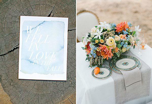 Beispiel: Von Hochzeitseinladung bis Tischdekoration, Foto: Hochzeitsplaner München.