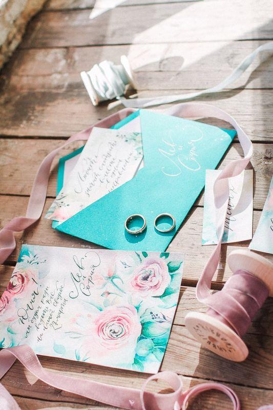 Акварельная весенняя свадьба. Комплект полиграфии.