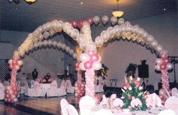 Decoraciones con globos para bodas
