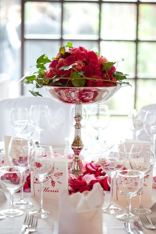 Beispiel: Blumendekoration, Foto: Flower & More.