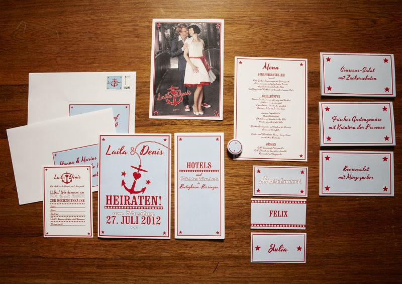Paper Couture Hochzeitskarten im 50er Jahre Stil, Foto: Paper & Soul.