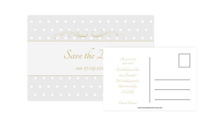 Beispiel: Save The Date Karten, Foto: Hochzeitskarten-Traum.