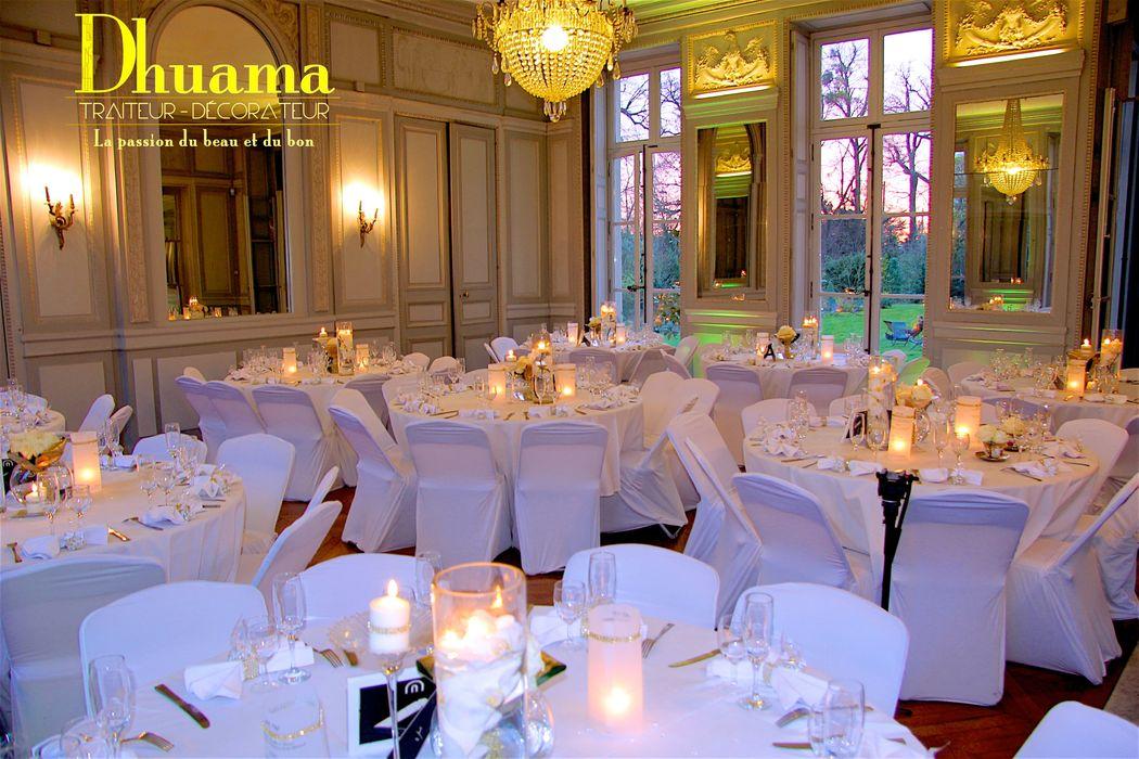 Décoration mariage Blanc et Or: Dhuama traiteur africain