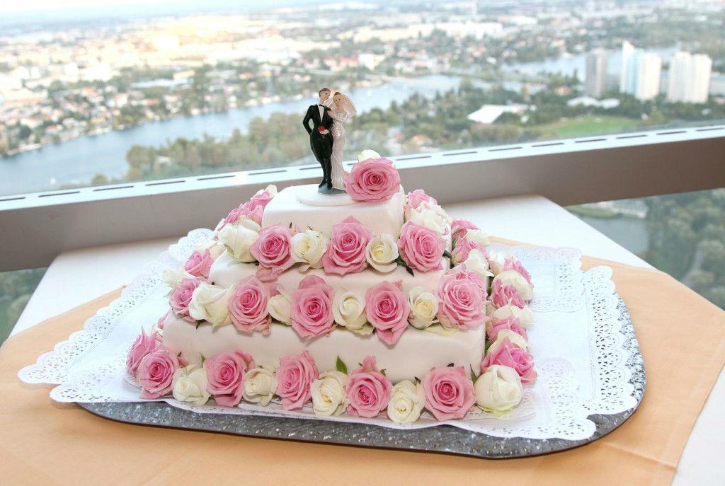 Beispiel: Hochzeitstorte, Foto: the wedding planner.