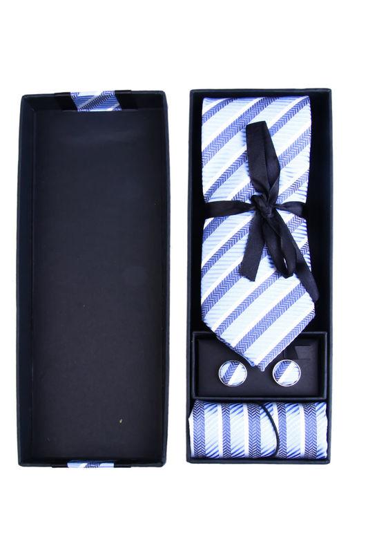 Corbata rayas Azules con el Fondo Blanco