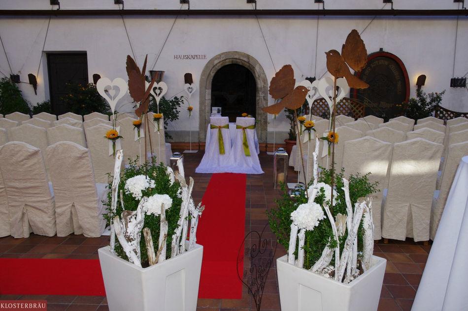 Beispiel: Trauungszeremonie im Klosterbräu, Foto: Hotel & Spa Klosterbräu.