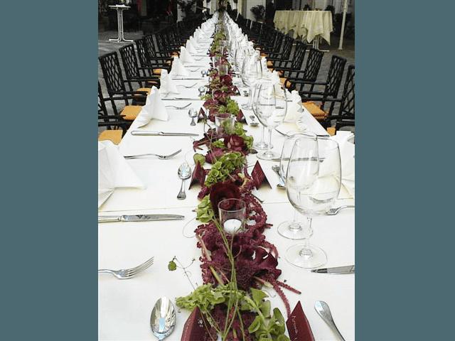 Beispiel: Blumen für Ihre Hochzeitsfeier, Foto: Blumenhandwerk Alexander Muhr.